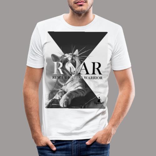 Rescue Kitten Warrior N - Mannen slim fit T-shirt