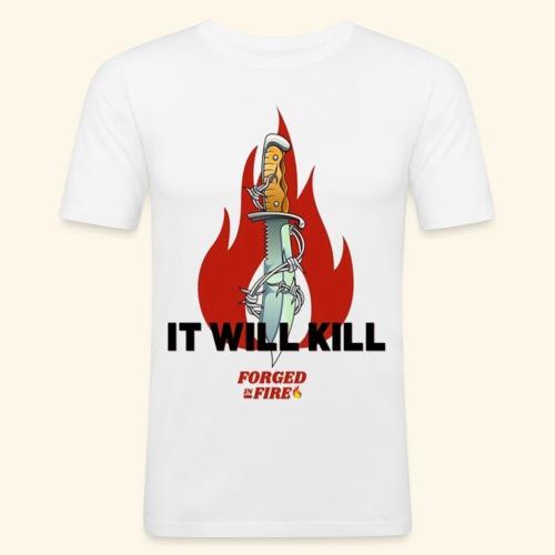 IT WILL KILL FIRE - Obcisła koszulka męska