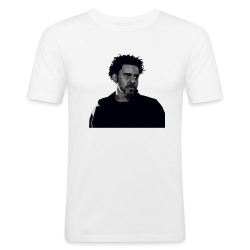 J-Cole illustration - Männer Slim Fit T-Shirt