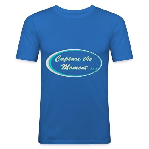 Logo capture the moment photography slogan - Men's Slim Fit T-Shirt