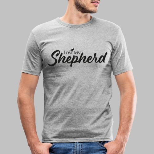 LOVE MY SHEPHERD - Black Edition - Dog Lover - Männer Slim Fit T-Shirt