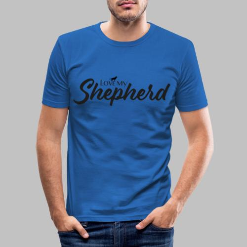 LOVE MY SHEPHERD - Black Edition - Dog Lover - Männer Slim Fit T-Shirt