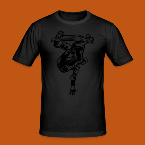 Skater / Skateboarder 03_schwarz - Männer Slim Fit T-Shirt