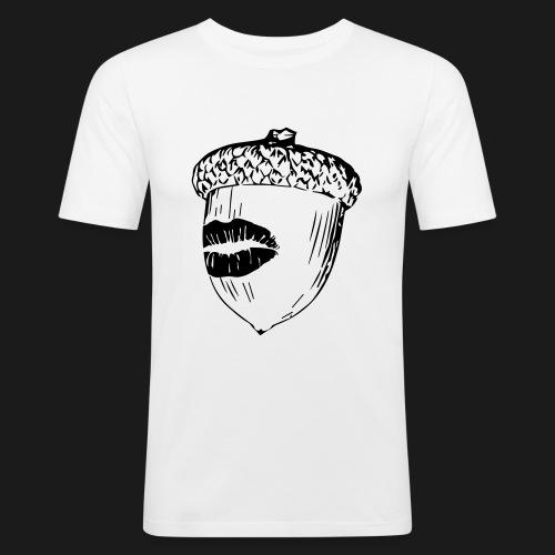 Kuss auf die Eichel [sw] - Männer Slim Fit T-Shirt