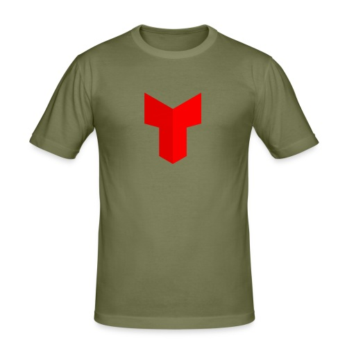 redcross-png - Mannen slim fit T-shirt