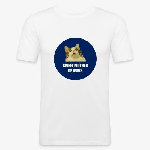 SWEETMOTHEROFJESUS - Men's Slim Fit T-Shirt
