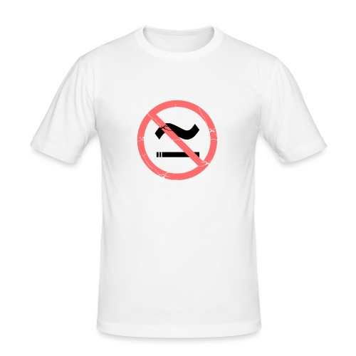 The Commercial NO SMOKING (Salmon) - Men's Slim Fit T-Shirt