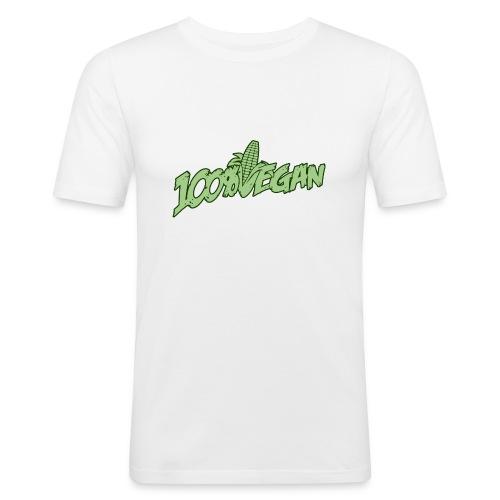 100% Vegan Men - Männer Slim Fit T-Shirt
