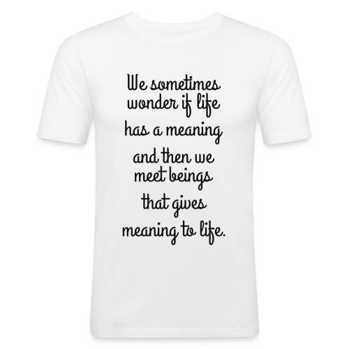 Phrase d'amour en anglais - T-shirt près du corps Homme
