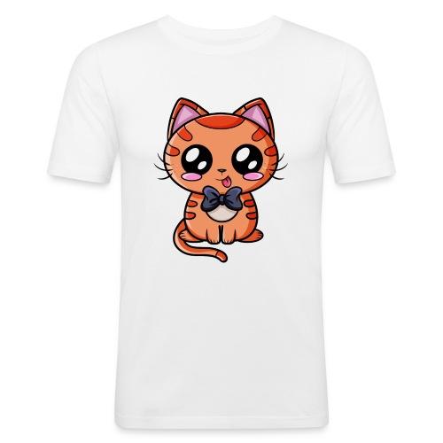 Chat Kawaii ! - T-shirt près du corps Homme