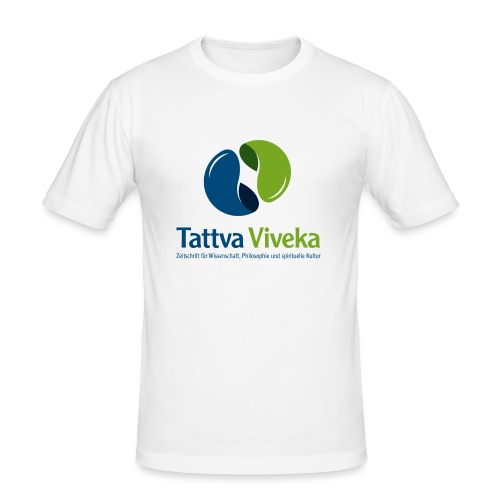 TV Logo Text unten - Männer Slim Fit T-Shirt