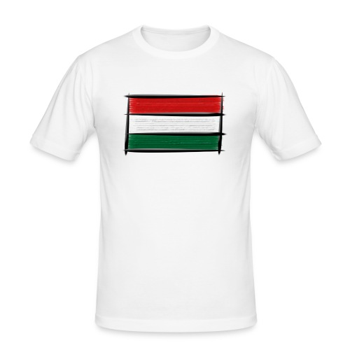 Art Flagge Ungarn - Männer Slim Fit T-Shirt
