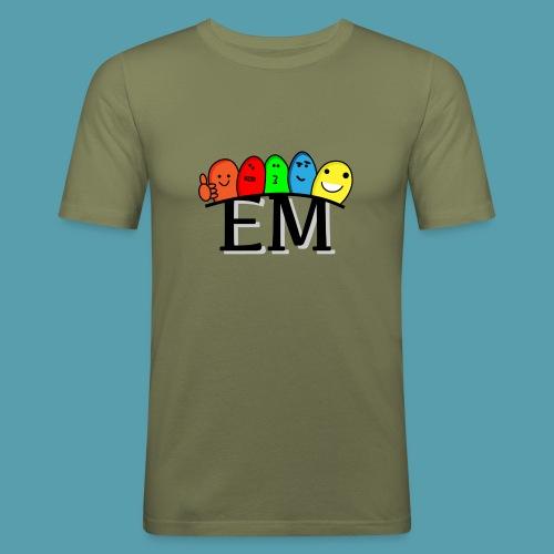 EM - Miesten tyköistuva t-paita