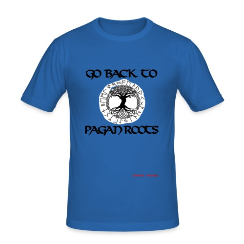 goBackToPaganRoots - T-shirt près du corps Homme