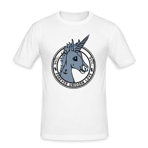 Colt - Unicorn Love (onwhite) - Männer Slim Fit T-Shirt