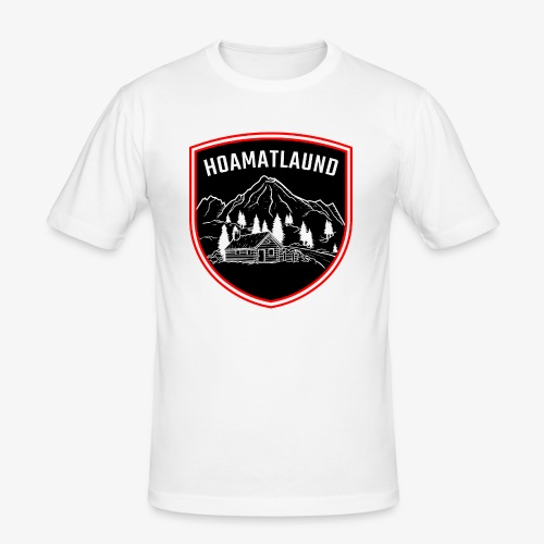Hoamatlaund logo - Männer Slim Fit T-Shirt
