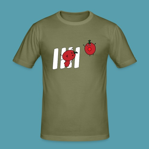 tomaatit - Miesten tyköistuva t-paita