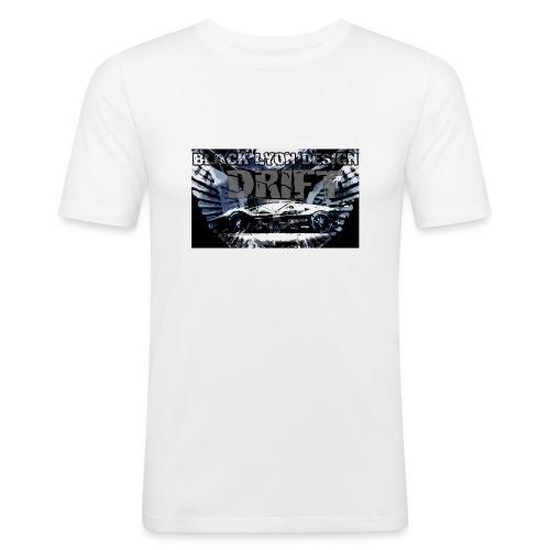 drift black lyon design - Men's Slim Fit T-Shirt