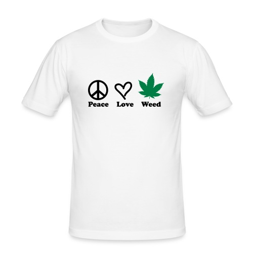Peace Love Weed - Men's Slim Fit T-Shirt
