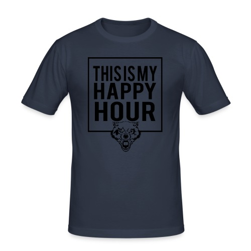 THIS IS MY HAPPY HOUR - Camiseta ajustada hombre