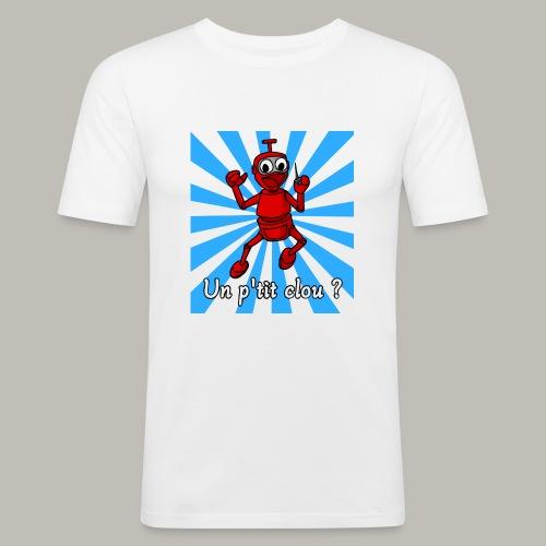 Back to 80's blue - T-shirt près du corps Homme