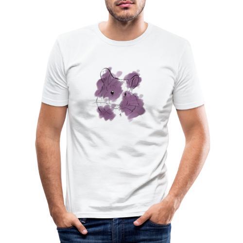Violet splash chinchilla - Miesten tyköistuva t-paita