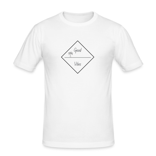 good vibes - Mannen slim fit T-shirt