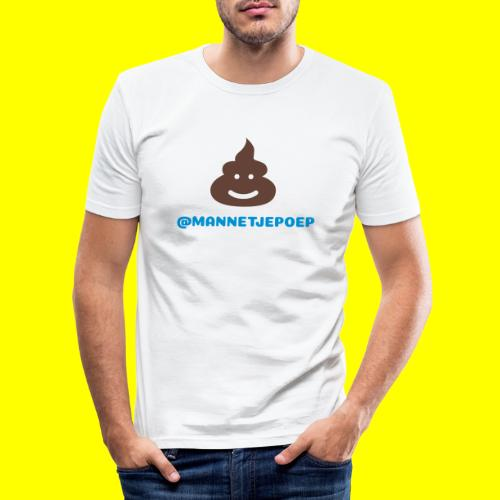 Mannetje Poep Shit - slim fit T-shirt