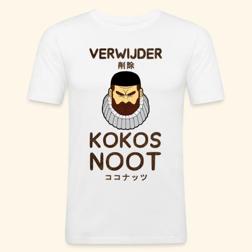 Verwijder Kokosnoot - Mannen slim fit T-shirt