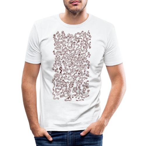 Worms Attack! - Men's Slim Fit T-Shirt