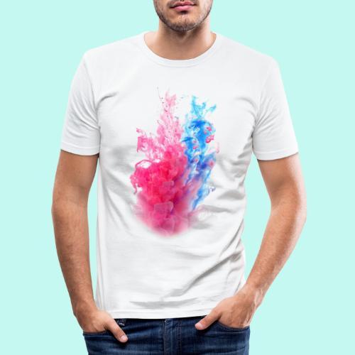 Pink & Blau - Männer Slim Fit T-Shirt