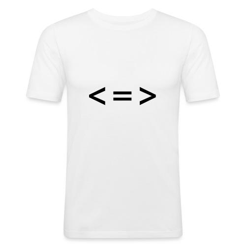 Logo Black - Maglietta aderente da uomo