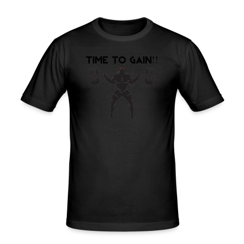 TIME TO GAIN! by @onlybodygains - Men's Slim Fit T-Shirt