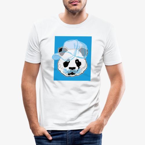 Panda - Cap - Mustache - Männer Slim Fit T-Shirt