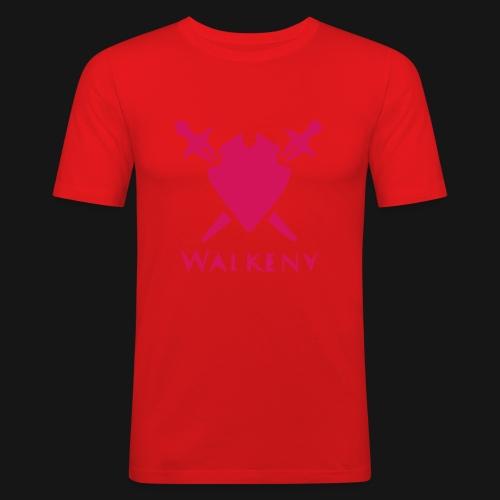 Das Walkeny Logo mit dem Schwert in PINK! - Männer Slim Fit T-Shirt