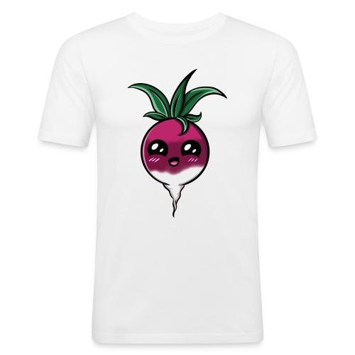 Kawaii Radish ! - T-shirt près du corps Homme
