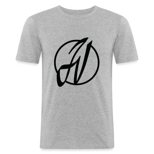 JV Guitars - logo noir - T-shirt près du corps Homme