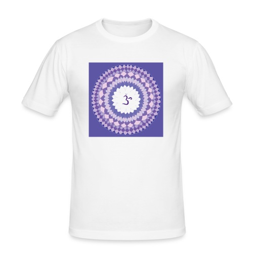 Sahasrara - Crown Chakra - Miesten tyköistuva t-paita