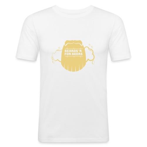 beardrforbeer_outlined - Slim Fit T-skjorte for menn