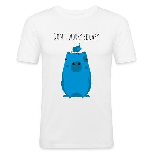 Wasserschwein Spruch - Männer Slim Fit T-Shirt