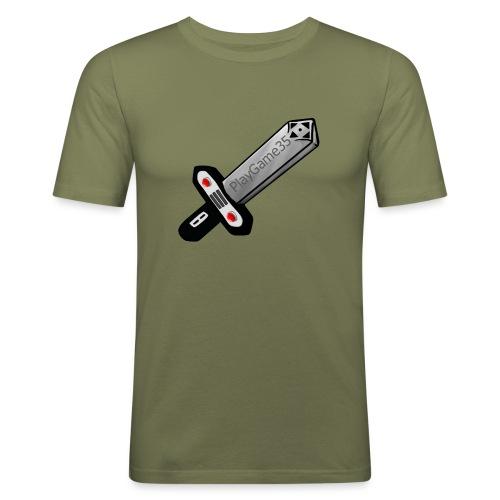 Logo PlayGame35 - Maglietta aderente da uomo