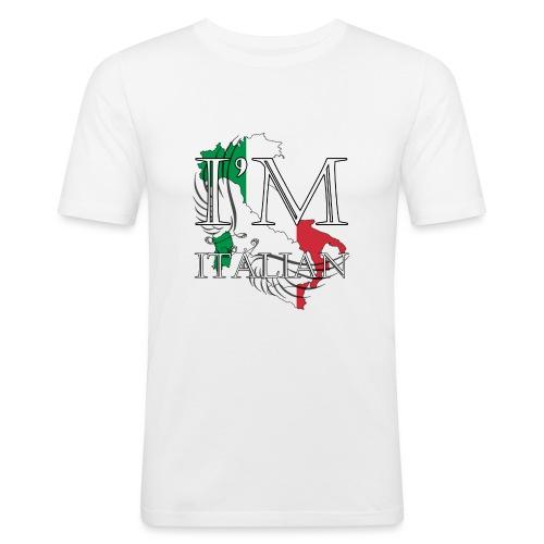 I am Italian - Maglietta aderente da uomo