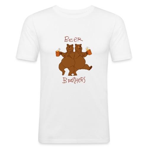 BEER BROTHERS - Obcisła koszulka męska
