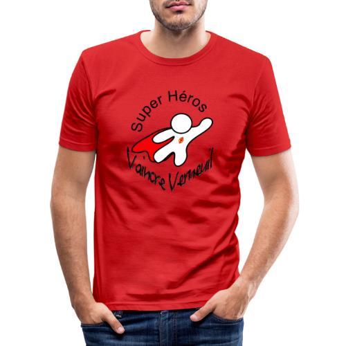 Super Héros Vaincre Verneuil - T-shirt près du corps Homme