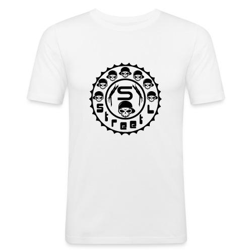 rawstyles rap hip hop logo money design by mrv - Obcisła koszulka męska
