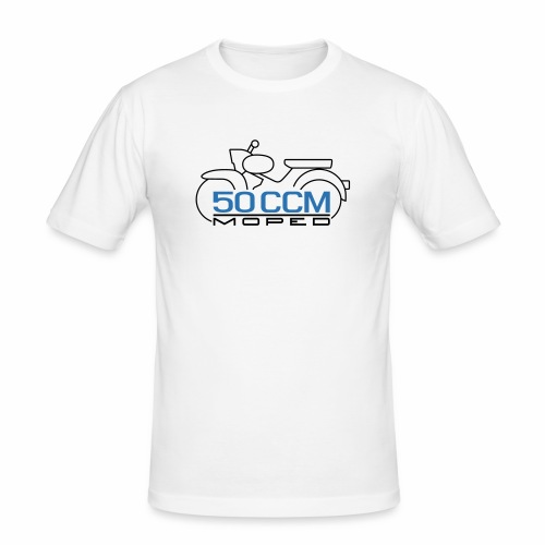 Moped Star 50 ccm Emblem - Men's Slim Fit T-Shirt