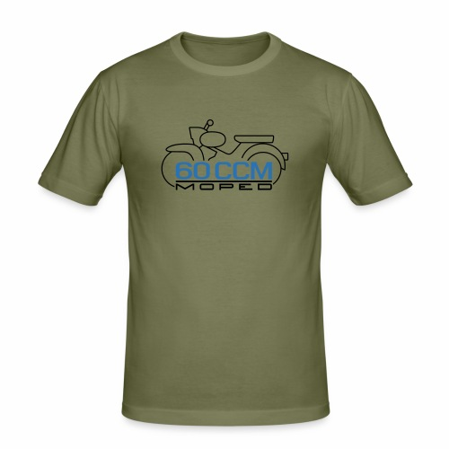 Moped Star 60 ccm Emblem - Men's Slim Fit T-Shirt