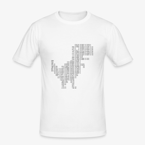 Dinosaur Binary | Google dinosaur | 404 | T-rex | - Men's Slim Fit T-Shirt