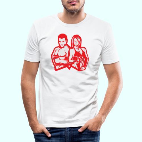 Man & woman NLB - Miesten tyköistuva t-paita