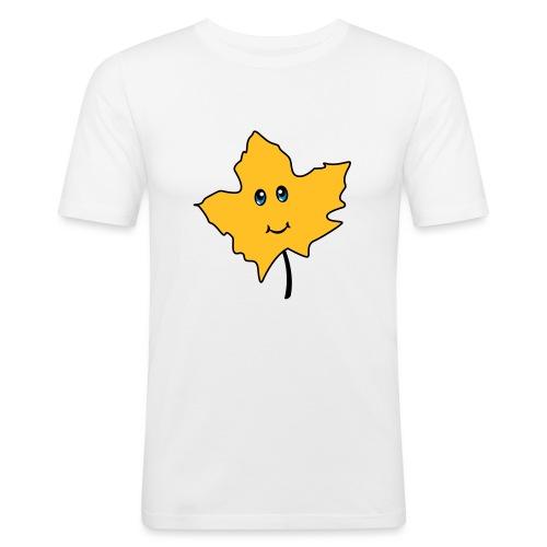 Herbst Blatt Comic Niedlich - Männer Slim Fit T-Shirt